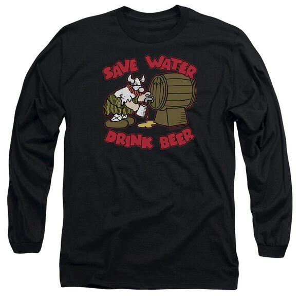 Hagar The Horrible Save Water Drink Beer Long Sleeve Adult T-Shirt
