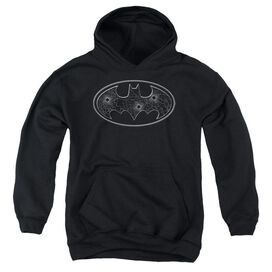 Batman Glass Hole Logo Youth Pull Over Hoodie