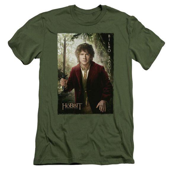 The Hobbit Bilbo Poster Short Sleeve Adult Military T-Shirt