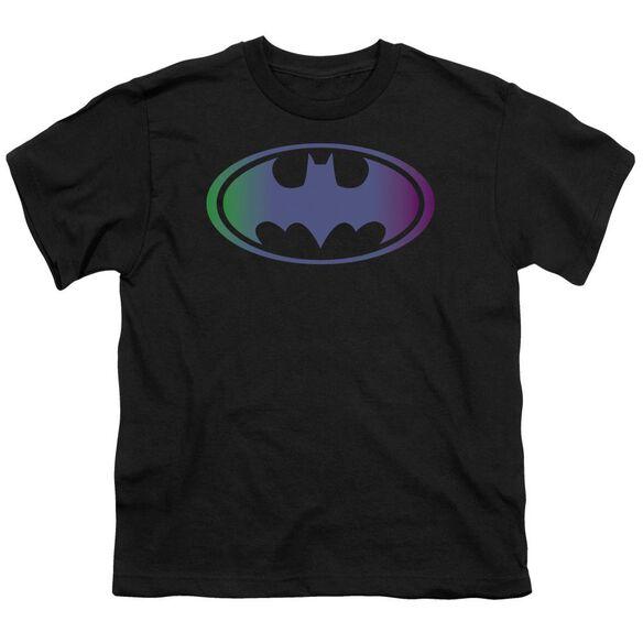 BATMAN GRADIENT BAT LOGO - S/S YOUTH 18/1 - BLACK T-Shirt