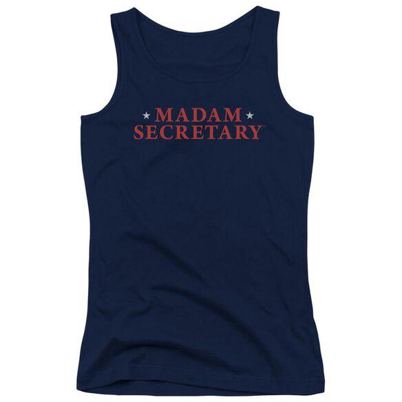 Madam Secretary Logo Juniors Tank Top