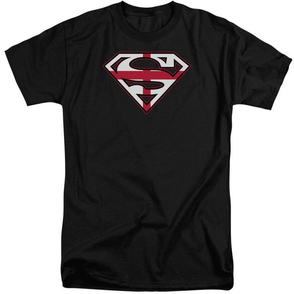 Superman English Shield Short Sleeve Adult Tall T-Shirt