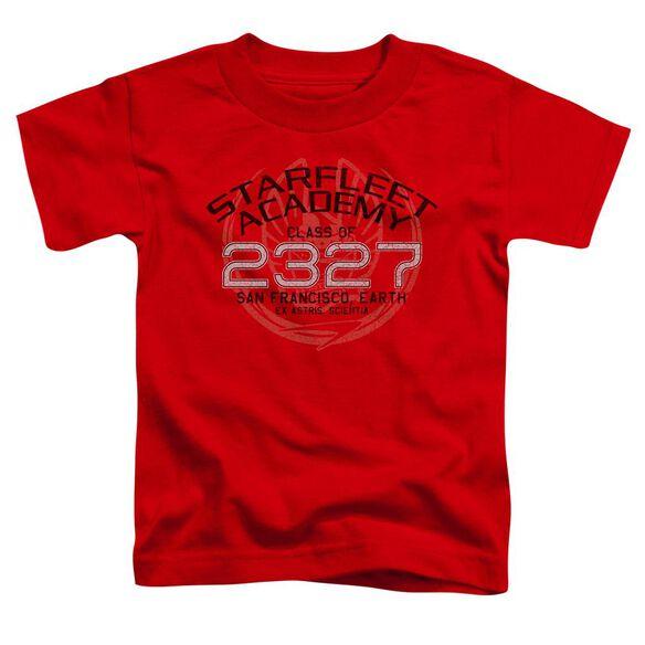 Star Trek Picard Graduation Short Sleeve Toddler Tee Red Lg T-Shirt