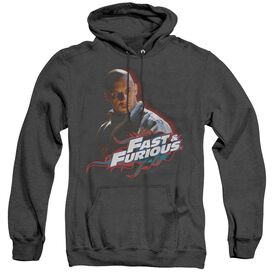 Fast And The Furious Toretto - Adult Heather Hoodie - Black - Xl