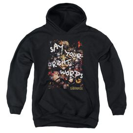 Labyrinth Right Words Youth Pull Over Hoodie