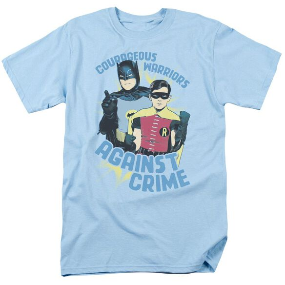 Batman Classic Tv Courageous Warriors Short Sleeve Adult Light T-Shirt