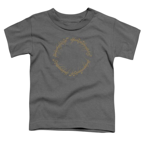 Lord Of The Rings One Ring Short Sleeve Toddler Tee Charcoal T-Shirt