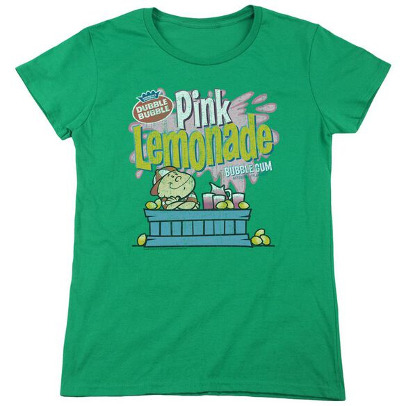 Dubble Bubble Pink Lemonade Short Sleeve Womens Tee Kelly T-Shirt