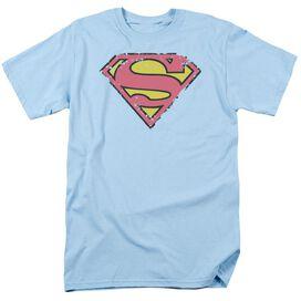 SUPERMAN DISTRESSED SHIELD-S/S ADULT T-Shirt
