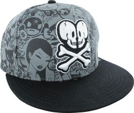 Tokidoki Heart and Crossbones Logo Snapback Hat