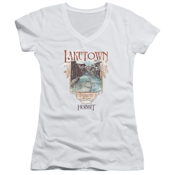 Hobbitlaketown Junior V Neck T-Shirt