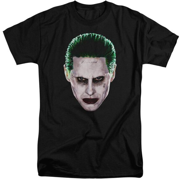 Suicide Squad Joker Head Short Sleeve Adult Tall T-Shirt