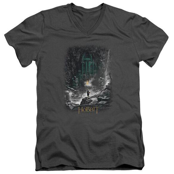 Hobbit Second Thoughts Short Sleeve Adult V Neck T-Shirt