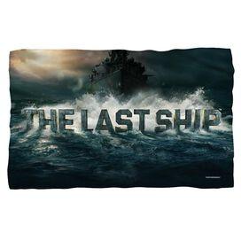 Last Ship Out To Sea Fleece Blanket