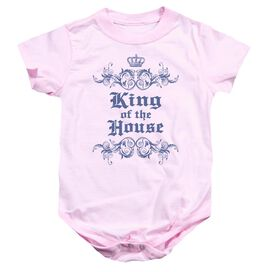 King Of The House - Infant Snapsuit - Pink - Md