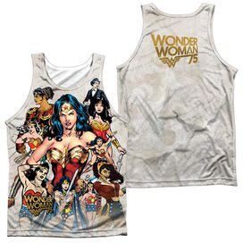 Wonder Woman 75 Th Collage (Front Back Print) Adult Poly Tank Top