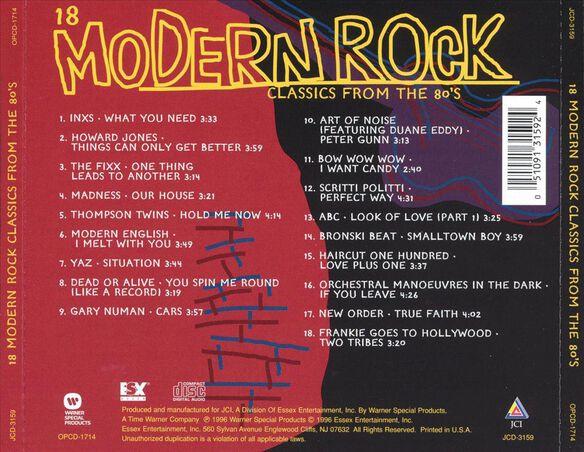 18 Modern Rock Classics F