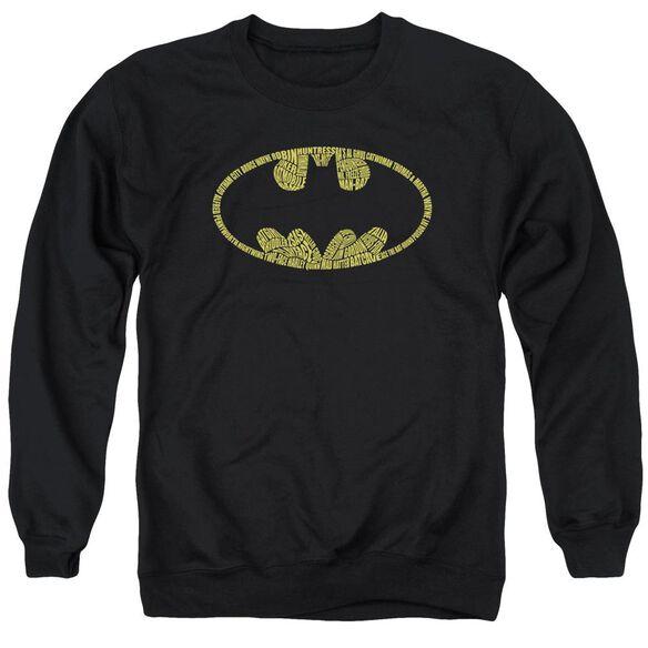 Batman Word Logo Adult Crewneck Sweatshirt