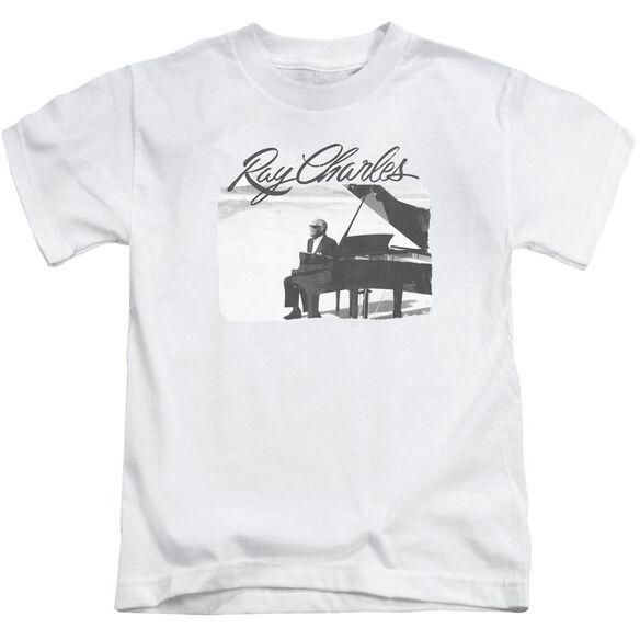 Ray Charles Sunny Ray Short Sleeve Juvenile White Md T-Shirt