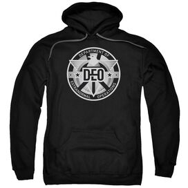Supergirl Deo Adult Pull Over Hoodie Black