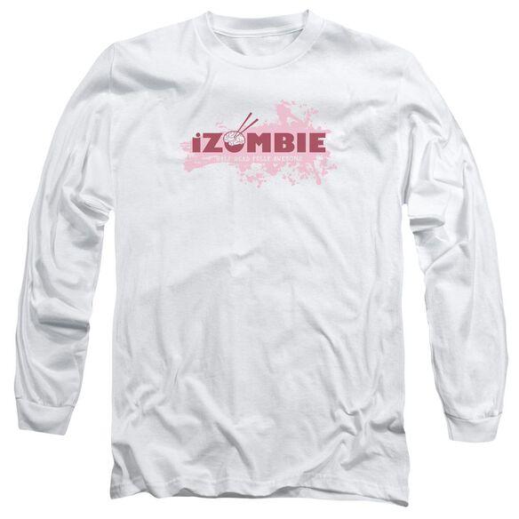 Izombie Splatter Logo Long Sleeve Adult T-Shirt