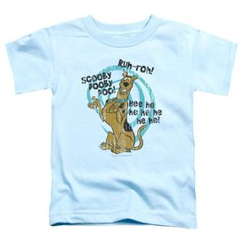 Scooby Doo Quoted Short Sleeve Toddler Tee Light Blue T-Shirt