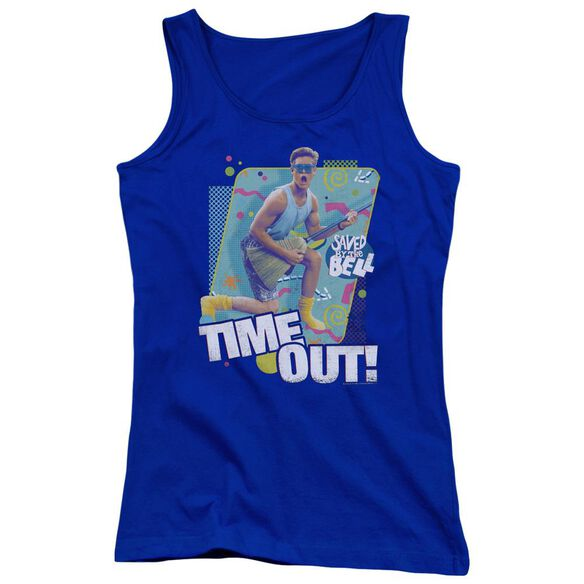 Saved By The Bell Time Out Juniors Tank Top Royal