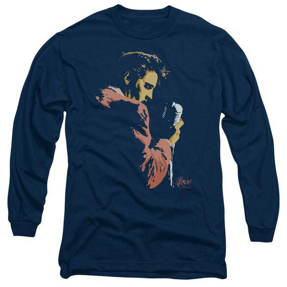 Elvis Presley Early Elvis Long Sleeve Adult T-Shirt