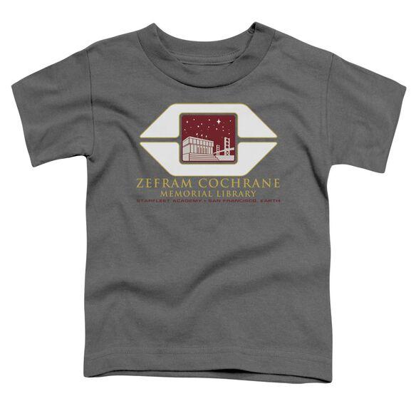 Star Trek Cochrane Library Short Sleeve Toddler Tee Charcoal Sm T-Shirt