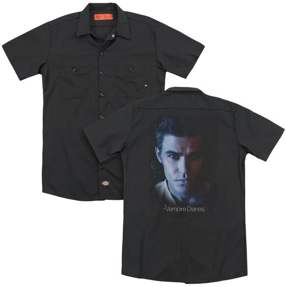 Vampire Diaries Stefan (Back Print) Adult Work Shirt