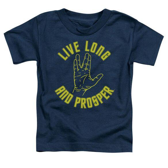 Star Trek Live Long Hand Short Sleeve Toddler Tee Navy Md T-Shirt