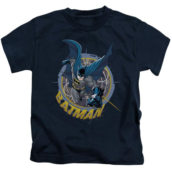 Batman In The Crosshairs Short Sleeve Juvenile Navy T-Shirt