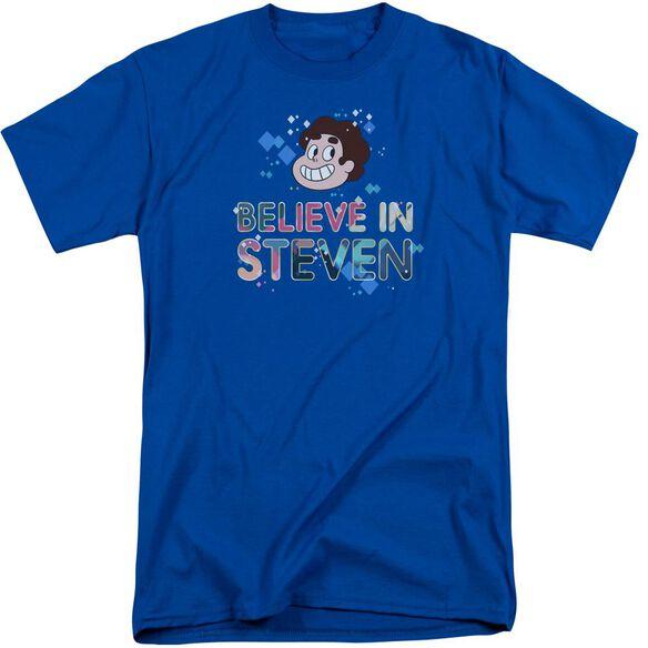 Steven Universe Believe Short Sleeve Adult Tall Royal T-Shirt