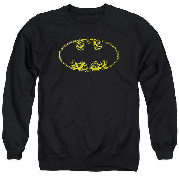 Batman Bats On Bats - Adult Crewneck Sweatshirt - Black