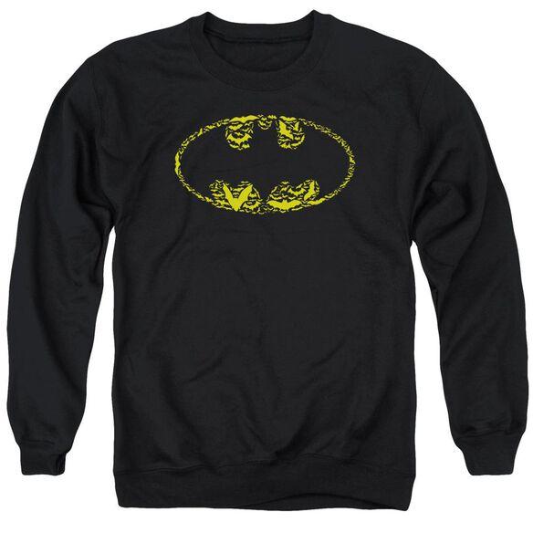 Batman Bats On Bats - Adult Crewneck Sweatshirt - Black