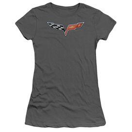 Chevrolet The Vette Medallion Short Sleeve Junior Sheer T-Shirt