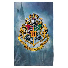 Harry Potter Hogwarts Crest Towel White