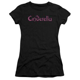 Cinderella Logo Rough Short Sleeve Junior Sheer T-Shirt