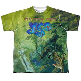 Yes Fly From Here Short Sleeve Youth Poly Crew T-Shirt
