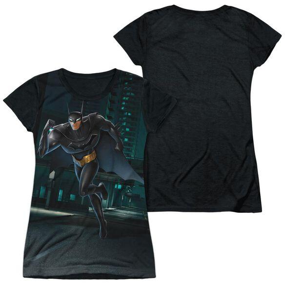 Beware The Batman Run Short Sleeve Junior Poly Black Back T-Shirt