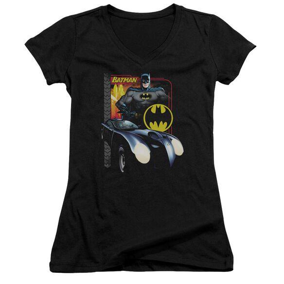 Batman Bat Racing Junior V Neck T-Shirt