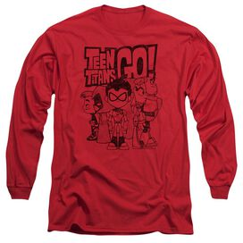 Teen Titans Go Team Up Long Sleeve Adult T-Shirt