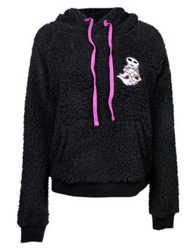 Nightmare Before Christmas Half-Zip Sherpa Women's Hoodie