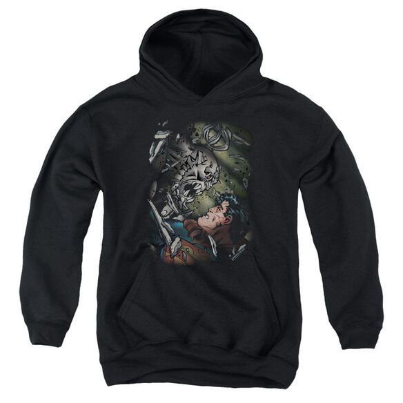 Superman Epic Battle Youth Pull Over Hoodie