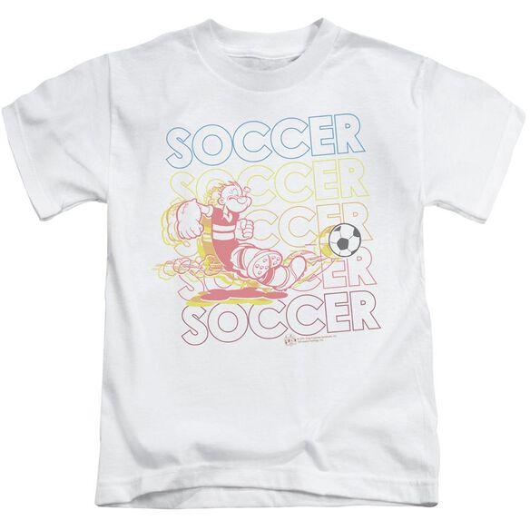 POPEYE SOCCER - S/S JUVENILE 18/1 - WHITE - T-Shirt