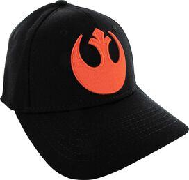 Star Wars Orange Rebel Alliance Logo Flex Hat