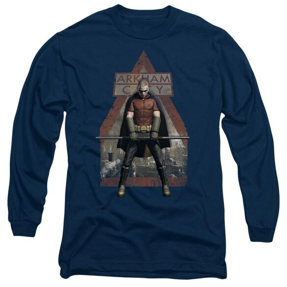 Arkham City Arkham Robin Long Sleeve Adult T-Shirt