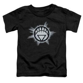 Green Lantern White Glow Short Sleeve Toddler Tee Black Sm T-Shirt