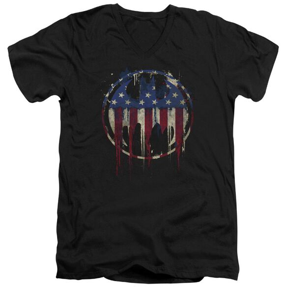Batman Bleeding Signal Short Sleeve Adult V Neck T-Shirt