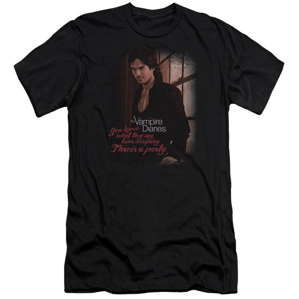 Vampire Diaries Threes A Party Premuim Canvas Adult Slim Fit